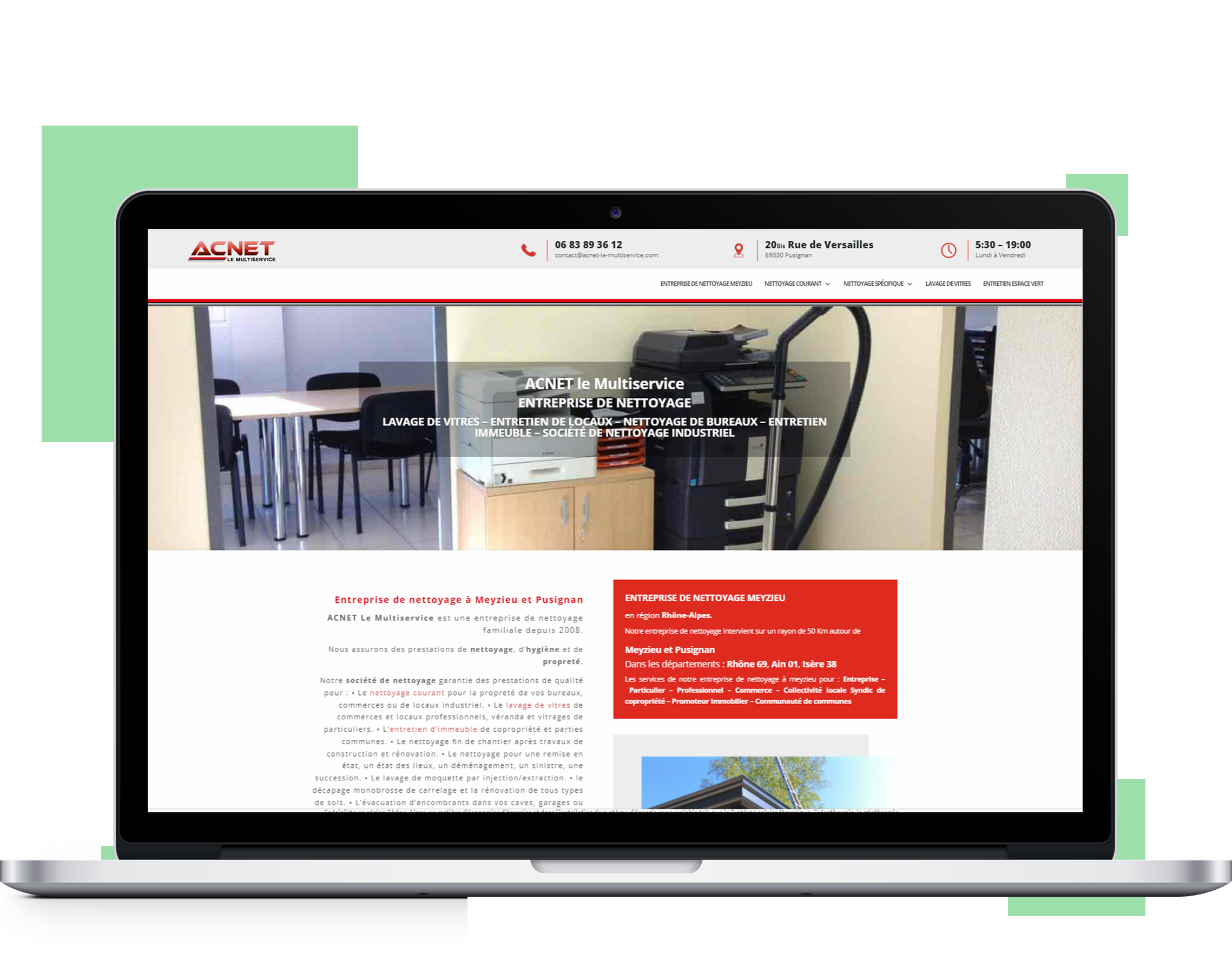 Création de site internet Meyzieu - référencement naturel à Meyzieu - Site PROS à Pusignan en Rhône-Alpes